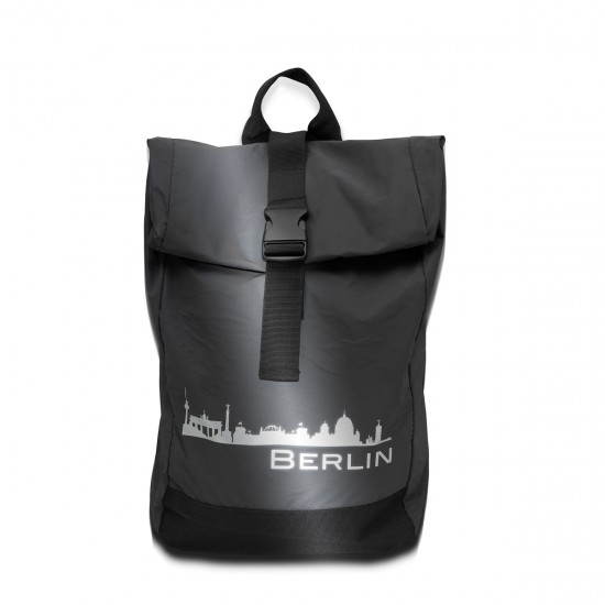 Reflective ROLL-TOP RUCKSACK city motif GERMANY - REFLECTION SERIES