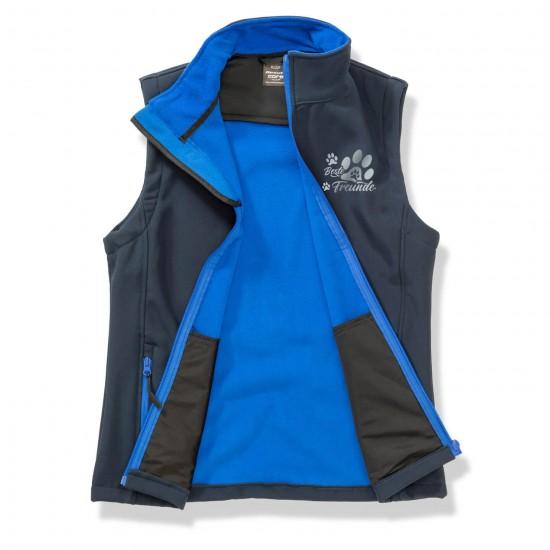 Dog Sport Vest - Softshell Vest with reflective design - navy/royal - REFLECTION SERIES