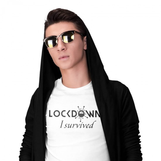 Slogans FUN T-Shirt - Lockdown - I survived