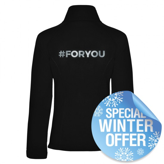 #FORYOU Softshell Jacket for women and men in urban lifestyle with reflective design PERSONALIZABLE - Black - REFLECTION SERIES