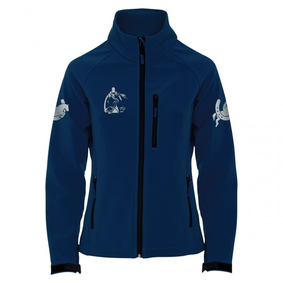 Riding jacket RIDE-PERFORMANCE RX - Softshell with reflective design - navy - REFLECTION SERIES