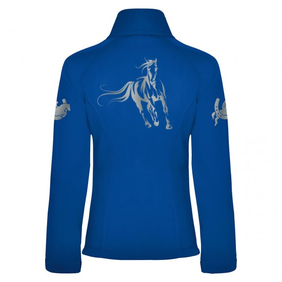 Riding jacket RIDE-PERFORMANCE RX - Softshell with reflective design - ROYAL BLUE - REFLECTION SERIES