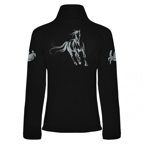 Riding jacket RIDE-PERFORMANCE RX - Softshell with reflective design - black - REFLECTION SERIES
