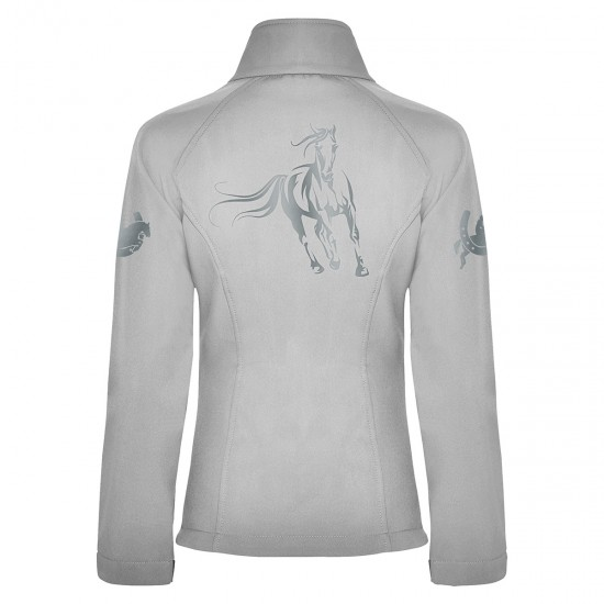Riding jacket RIDE-PERFORMANCE RX - Softshell with reflective design - Pearl White - REFLECTION SERIES