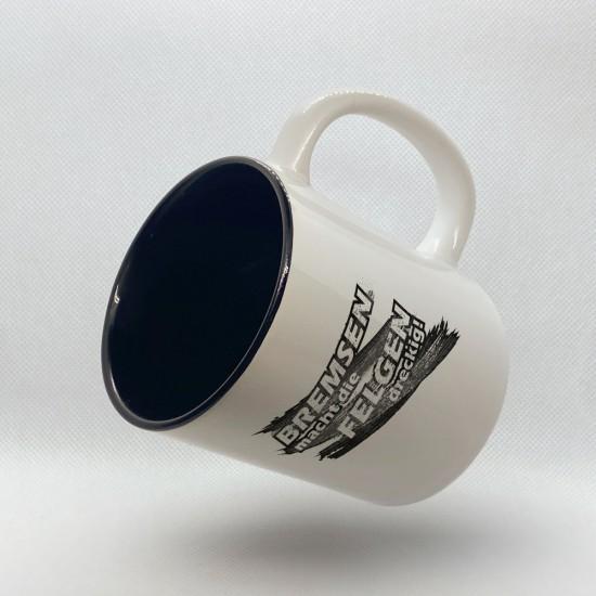 Kaffeetasse Bremsen macht die Felgen dreckig