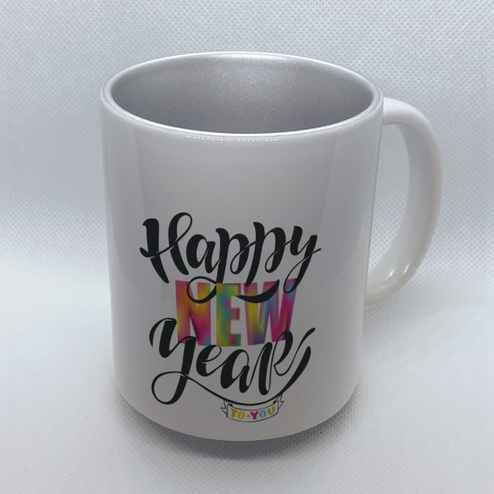 Funny mug printed with New Year's Eve motif Happy New Year