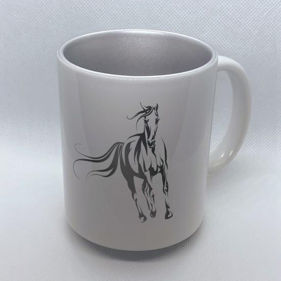 Funny mug printed with motif Horse